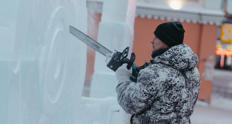 Фигуры из льда в Омске